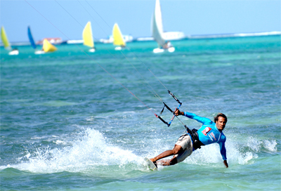 Kite surfing in Tobago