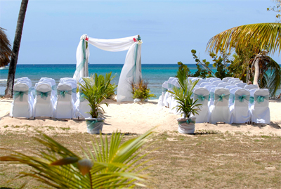 Beach wedding, Tobago